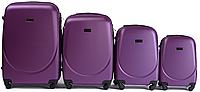 Набор чемоданов 4 штуки в 1 Wings 310 на 4 колесах Сливовый, фото 1