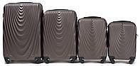 Набор чемоданов 4 штуки в 1 Wings 304 на 4 колесах Кофе, фото 1