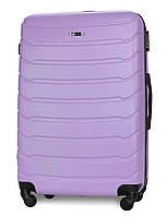 Чемодан Fly 1107 большой 74х50х29 см 90л пластиковый на 4 колесах Светло-фиолетовый