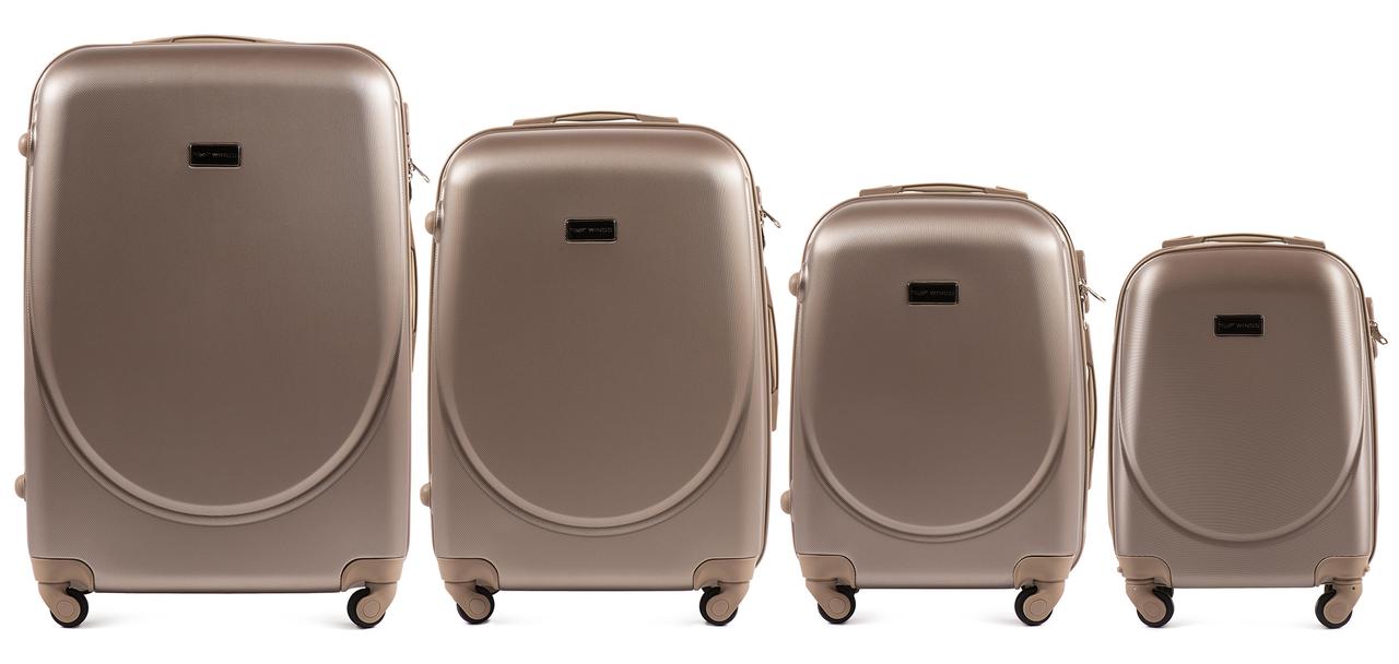 Набор чемоданов 4 штуки в 1 Wings K310 на 4 колесах Шампань