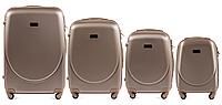 Набор чемоданов 4 штуки в 1 Wings K310 на 4 колесах Шампань, фото 1