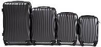Набор чемоданов 4 штуки в 1 Wings 159 на 4 колесах Темно-серый, фото 1