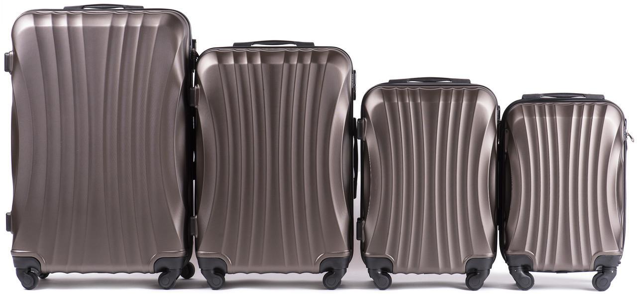 Набор чемоданов 4 штуки в 1 Wings 159 на 4 колесах Кофе
