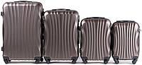 Набор чемоданов 4 штуки в 1 Wings 159 на 4 колесах Кофе, фото 1
