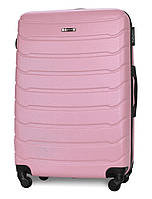 Чемодан Fly 1107 большой 74х50х29 см 90л пластиковый на 4 колесах Розовый