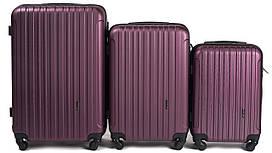 Набор чемоданов 3 штуки в 1 Wings 2011 на 4 колесах Бордовый
