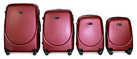 Набор чемоданов 4 штуки в 1 Fly 310 на 4 колесах Бордовый