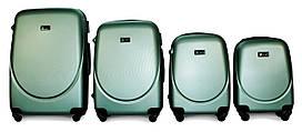 Набор чемоданов 4 штуки в 1 Fly 310 на 4 колесах Изумрудный