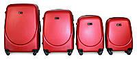 Набор чемоданов 4 штуки в 1 Fly 310 на 4 колесах Красный, фото 1