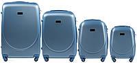 Набор чемоданов 4 штуки в 1 Wings K310 на 4 колесах Голубое серебро, фото 1