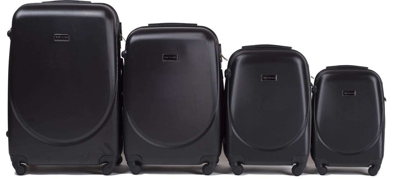 Набор чемоданов 4 штуки в 1 Wings K310 на 4 колесах Черный