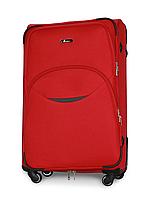 Чемодан Fly 1708 большой 74х48х30 см 90л тканевый на 4 колесах Красный, фото 1