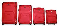 Набор чемоданов 4 штуки в 1 Fly 6802 на 2 колесах  Красный, фото 1