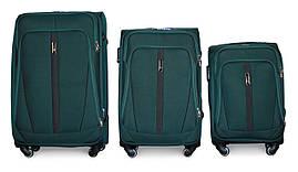 Набор чемоданов 3 штуки в 1 Fly 1706 на 4 колесах Зеленый