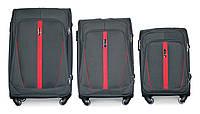 Набор чемоданов 3 штуки в 1 Fly 1706 на 4 колесах Серый, фото 1