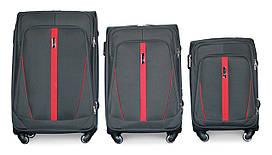 Набор чемоданов 3 штуки в 1 Fly 1706 на 4 колесах Серый