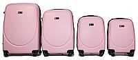 Набор чемоданов 4 штуки в 1 Fly 310 на 4 колесах Розовый, фото 1