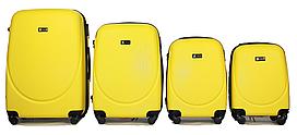 Набор чемоданов 4 штуки в 1 Fly 310 на 4 колесах Желтый