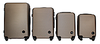 Набор чемоданов 4 штуки в 1 Fly 91240 на 4 колесах Шампань, фото 1