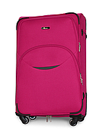 Чемодан Fly 1708 большой 74х48х30 см 90л тканевый на 4 колесах Розовый