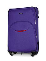 Чемодан Fly 1708 большой 74х48х30 см 90л тканевый на 4 колесах Фиолетовый