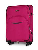 Чемодан Fly 1708 средний 64х43х27 см 60л тканевый на 4 колесах Розовый, фото 1