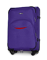 Чемодан Fly 1708 средний 64х43х27 см 60л тканевый на 4 колесах Фиолетовый