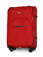 Чемодан Fly 1708 средний 64х43х27 см 60л тканевый на 4 колесах Красный