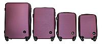 Набор чемоданов 4 штуки в 1 Fly 91240 на 4 колесах Темно-фиолетовый, фото 1