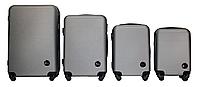 Набор чемоданов 4 штуки в 1 Fly 91240 на 4 колесах Серебро, фото 1