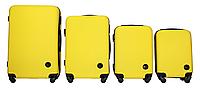 Набор чемоданов 4 штуки в 1 Fly 91240 на 4 колесах Желтый, фото 1
