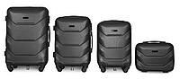 Набор чемоданов 4 штуки в 1 Fly К147 на 4 колесах Темно-серый, фото 1