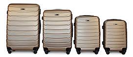 Набор чемоданов 4 штуки в 1 Fly 1107 на 4 колесах Золотистый