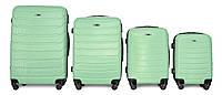 Набор чемоданов 4 штуки в 1 Fly 1107 на 4 колесах Мятный, фото 1