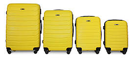 Набор чемоданов 4 штуки в 1 Fly 1107 на 4 колесах Желтый