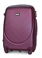 Чемодан Fly К310 большой 75х47х29 см 90 л пластиковый на 4 колесах Темно-фиолетовый