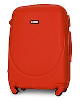 Чемодан Fly К310 большой 75х47х29 см 90л пластиковый на 4 колесах Оранжевый