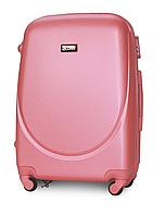 Чемодан Fly К310 большой 75х47х29 см 90л пластиковый на 4 колесах Розовый