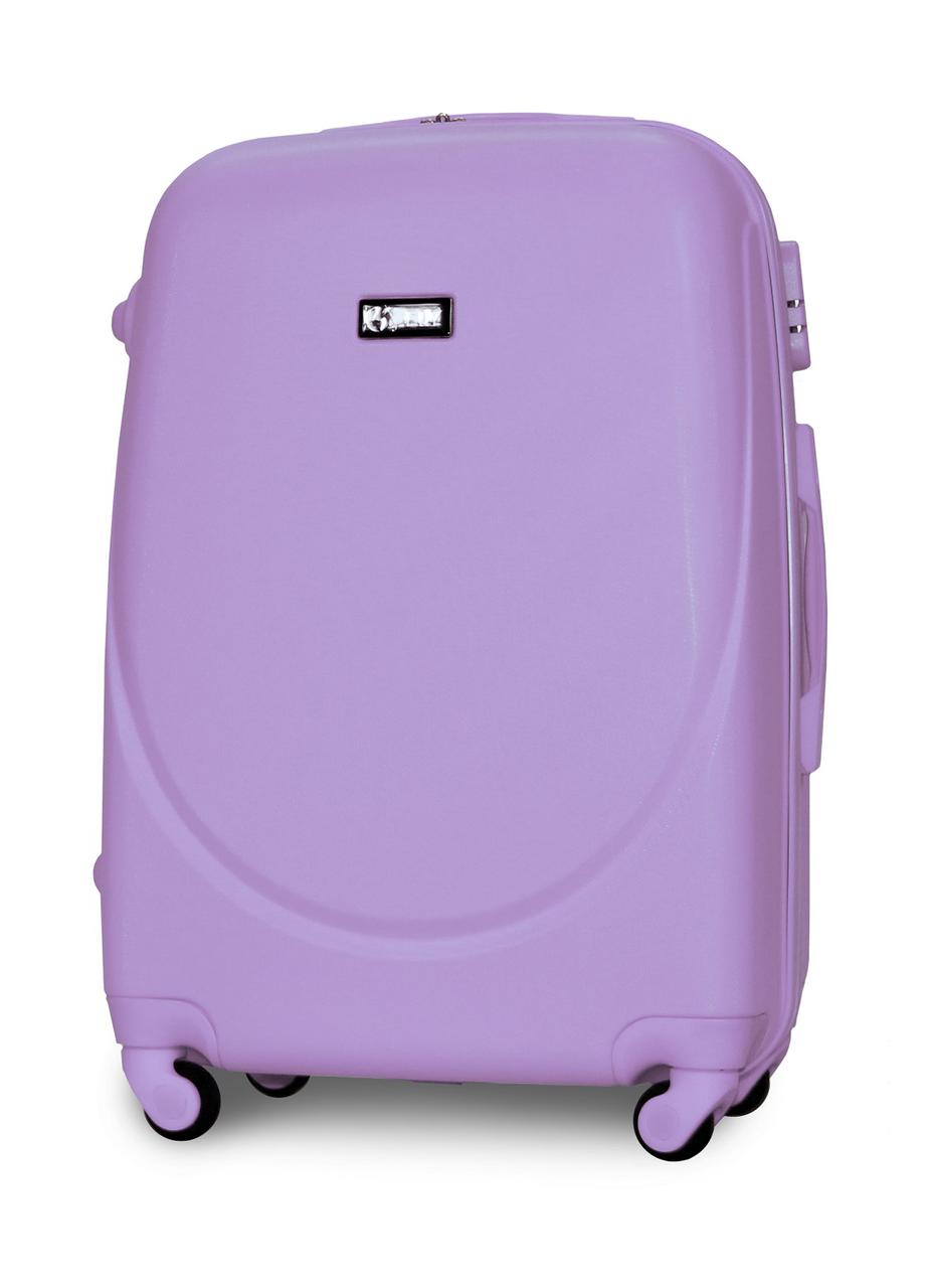 Чемодан Fly К310 большой 75х47х29 см 90л пластиковый на 4 колесах Светло-фиолетовый
