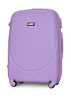 Чемодан Fly К310 большой 75х47х29 см 90л пластиковый на 4 колесах Светло-фиолетовый, фото 1