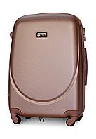 Чемодан Fly К310 большой 75х47х29 см 90л пластиковый на 4 колесах Розово-золотой