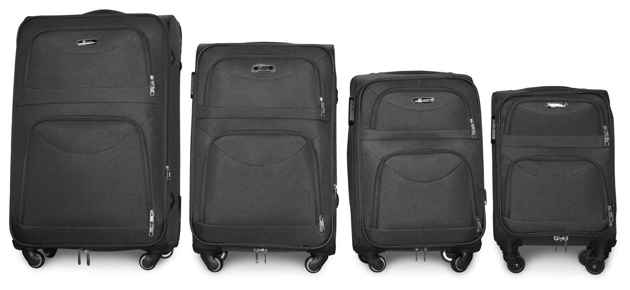 Набор чемоданов 4 штуки в 1 Fly 6802 на 4 колесах Темно-серый