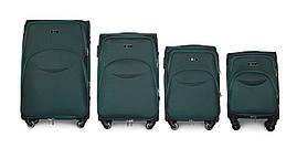 Набор чемоданов 4 штуки в 1 Fly 1708 на 4 колесах Зеленый