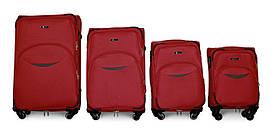 Набор чемоданов 4 штуки в 1 Fly 1708 на 4 колесах Бордовый