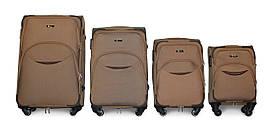 Набор чемоданов 4 штуки в 1 Fly 1708 на 4 колесах Бежевый