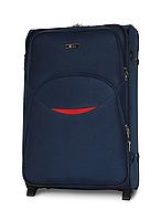 Чемодан Fly 1708 большой 74х48х30 см 90л тканевый на 2 колесах Темно-синий, фото 1