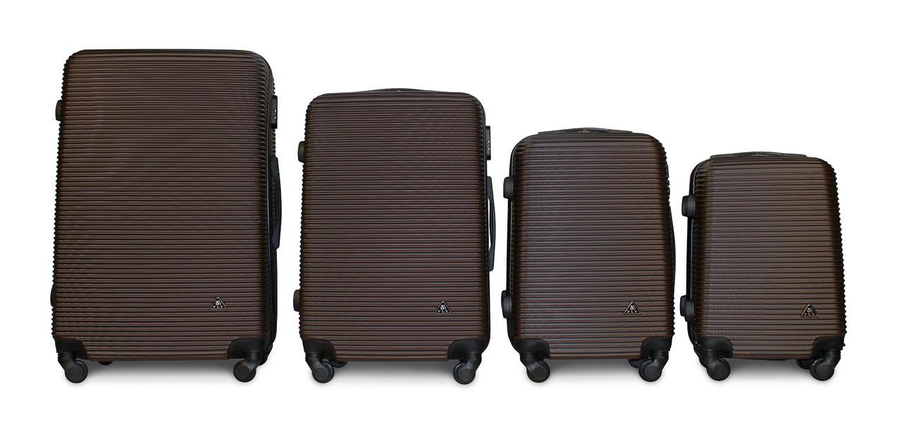 Набор чемоданов 4 штуки в 1 Fly 91240 на 4 колесах Коричневый