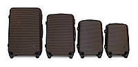 Набор чемоданов 4 штуки в 1 Fly 91240 на 4 колесах Коричневый, фото 1