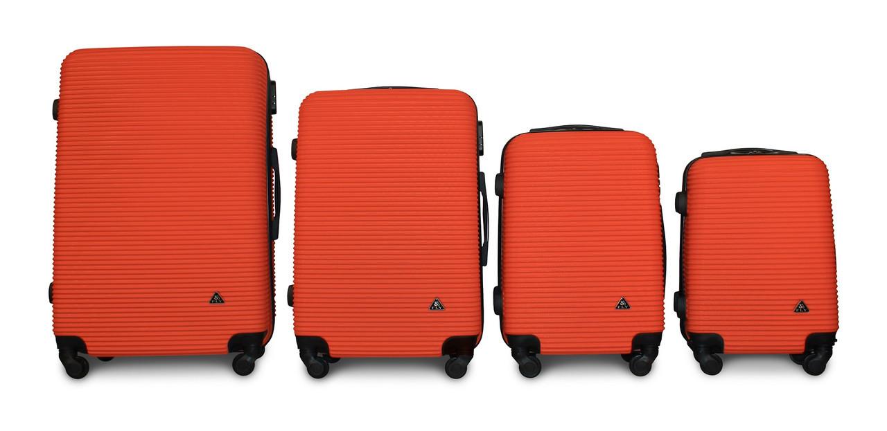 Набор чемоданов 4 штуки в 1 Fly 91240 на 4 колесах Оранжевый