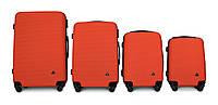 Набор чемоданов 4 штуки в 1 Fly 91240 на 4 колесах Оранжевый, фото 1